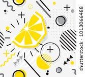 trendy seamless  memphis style... | Shutterstock .eps vector #1013066488