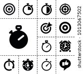 accurate icons. set of 13... | Shutterstock .eps vector #1013067502