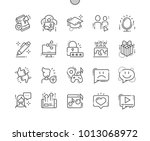 social icons well crafted pixel ... | Shutterstock .eps vector #1013068972