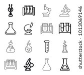 lab icons. set of 16 editable... | Shutterstock .eps vector #1013069146