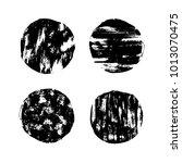 grunge circle post stamp set....   Shutterstock .eps vector #1013070475