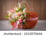 easter basket. easter basket...   Shutterstock . vector #1013070646