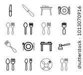 dishware icons set of 16