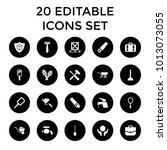 handle icons. set of 20... | Shutterstock .eps vector #1013073055