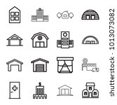 exterior icons. set of 16... | Shutterstock .eps vector #1013073082