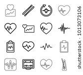 beat icons. set of 16 editable... | Shutterstock .eps vector #1013073106