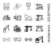lift icons. set of 16 editable...   Shutterstock .eps vector #1013074402