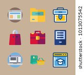 icon business with briefcase ... | Shutterstock .eps vector #1013075542