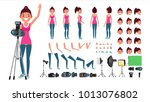 photographer woman vector.... | Shutterstock .eps vector #1013076802