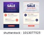 newsletter design template for... | Shutterstock .eps vector #1013077525