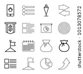 ui icons. set of 16 editable...