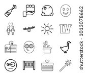 Happy Icons. Set Of 16 Editabl...