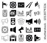 loud icons. set of 25 editable... | Shutterstock .eps vector #1013079226