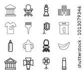 nobody icons. set of 16... | Shutterstock .eps vector #1013079346