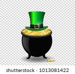 saint patricks day symbols.... | Shutterstock .eps vector #1013081422
