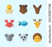 icons about animals with crab ... | Shutterstock .eps vector #1013082748