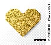 vector gold sparkles heart.... | Shutterstock .eps vector #1013084095