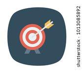 target aim success  | Shutterstock .eps vector #1013085892