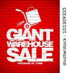 giant warehouse sale design... | Shutterstock .eps vector #101309335