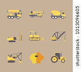 icon construction machinery... | Shutterstock .eps vector #1013096605