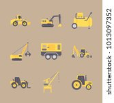 icon construction machinery... | Shutterstock .eps vector #1013097352