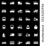 transportation icons set | Shutterstock .eps vector #1013102956