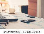 business concept. office supply ... | Shutterstock . vector #1013103415