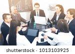 business meeting of... | Shutterstock . vector #1013103925