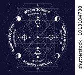 vector illustration of solstice ... | Shutterstock .eps vector #1013104738