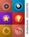 set of icons on buttons on... | Shutterstock .eps vector #1013104762