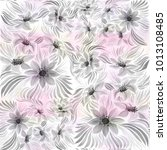 seamless background. dahlia is... | Shutterstock . vector #1013108485