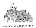 vector sketch of house of the... | Shutterstock .eps vector #1013112226