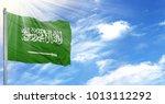 flag of saudi arabia on... | Shutterstock . vector #1013112292