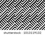 seamless pattern with striped... | Shutterstock .eps vector #1013119132