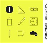 web linear icon set. simple... | Shutterstock .eps vector #1013124592