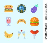 icons about food with hot dog ... | Shutterstock .eps vector #1013130556