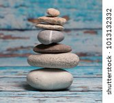 Stack Of Pebbles In Harmonious...