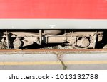 big circle steel train wagon...   Shutterstock . vector #1013132788