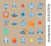 icon set about universe with... | Shutterstock .eps vector #1013132926
