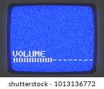 vector vhs blue intro screen of ... | Shutterstock .eps vector #1013136772