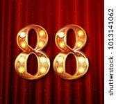 88 years anniversary... | Shutterstock .eps vector #1013141062
