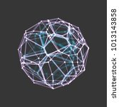 sphere. 3d vector wireframe... | Shutterstock .eps vector #1013143858
