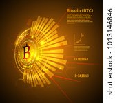 bitcoin symbol and price chart. ... | Shutterstock .eps vector #1013146846