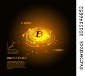 bitcoin symbol and price chart. ... | Shutterstock .eps vector #1013146852