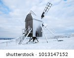 snow covered traditional...   Shutterstock . vector #1013147152