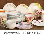 dishes of different kinds. a... | Shutterstock . vector #1013161162