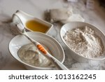 homemade toothpaste  made with... | Shutterstock . vector #1013162245