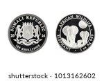 somali republic silver coin 1oz ... | Shutterstock . vector #1013162602