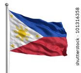 Philippines Flag. Rendered With ...