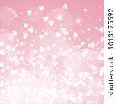 falling hearts. bottom gradient ... | Shutterstock .eps vector #1013175592